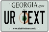 Personalised Georgia License Plate