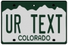 Personalised Colorado License Plate